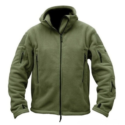 Флисовая куртка олива