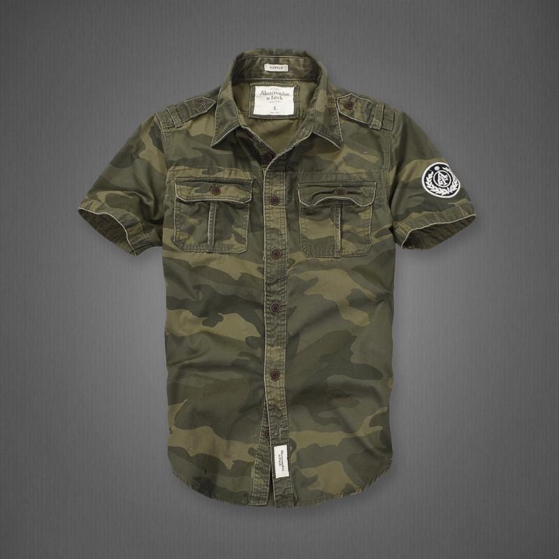 Рубашка Abercrombie & Fitch камуфляж