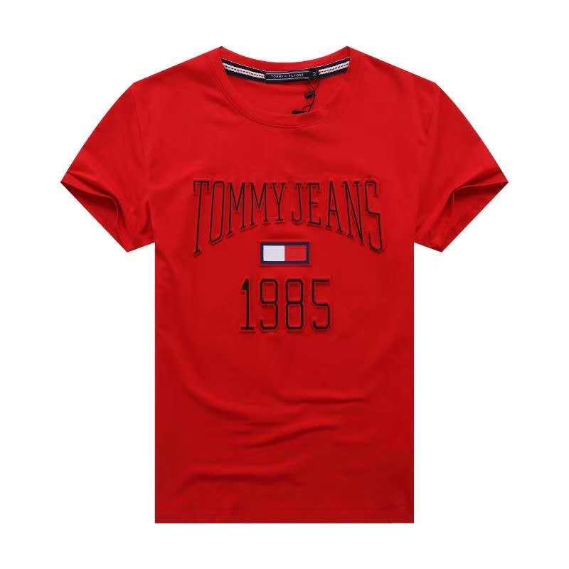 Футболка Tommy Jeans c 3D принтом красная